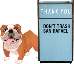 Oscar says dont trash san rafael
